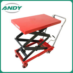 500kg Flexible Hydraulic Hand Double Scissor Lift Trolley Tables for Lift Price with Ce Certification Sdp-B