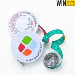 150cm (60inch) Professional Plastic Health Measure Tape Medical BMI Body Fat Measurement Less Than 1 Dollar with Company Logo