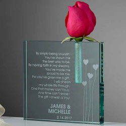 Loving Heart Craft Personalized Glass Crystal Bud Vase Wholesale Table Favor Wedding Decoration for Souvenirs Gift (#9387)