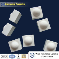 Customized Alumina Ceramic Cube with One Dimple for Pulley Laggings