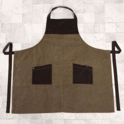 Olivia Color Waterproof Canvas Uniform Workwear Bib Apron (RS-170305)