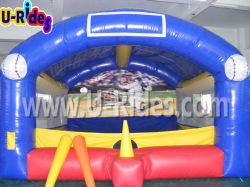 Wholesale price inflatable sport games baseball shooter inflatable baseball arena for carnival