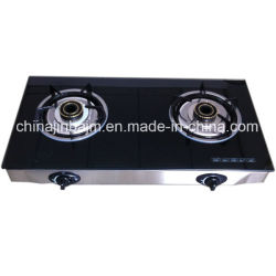 2 Burners Tempered Gl Top Stainless Steel Energy Saving Gas Stove Cooker