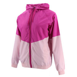 Fashion Latest Designer Windbreaker Outdoor Custom Woven Polyester Softshell Winter Sports Pink Hooded Factory Quality Women Bomber Jacket