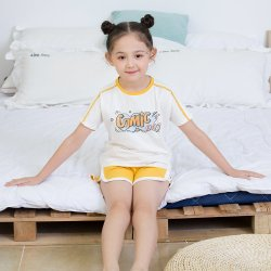 2 Colors Comfortsoft Sport T-Shirt Pant Children Apparel for Girl