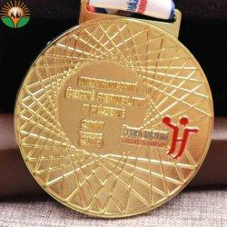 Custom Souvenir Casting Marathon Sports 3D Gold Metal Award Medal with Ribbon