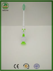 Soft Rubber Handle with Suction on Can Stikcer on Glass Child Toothbrush