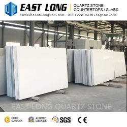 Hot Sale Fine Particle White Polished Quartz Stone Surface for Vanity Tops
