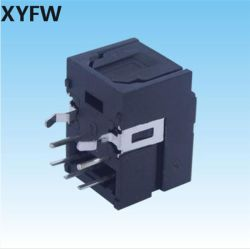 Xyfw Optical Toslink Connector Receiver Fiber Optic PCB Jack