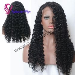 Top Quality Unprocessed Hair Wholesale Price Jerry Curl Front Lace Wig