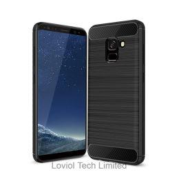 Brush Armor Carbon Fiber TPU Cover for Samsung Galaxy A5 2018