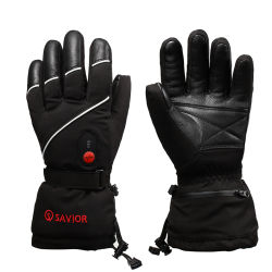2017 winter 7.4V2200mAh electric heated gloves waterproof windproof