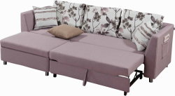 Sectional Fabric Sofa Set with Pull out Bed