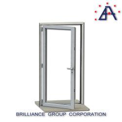 Aluminum Tempered Glass Casement Inward Open Window