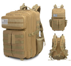 Large Capacity Double Shoulder Outdoor Sports Travel 3p Assault Molle Tactical Go Military Army Fan Backpack Bag (CY5936)