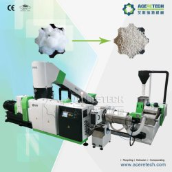 Waste Pet Fiber Pelletizing Line / Polyester Fiber Granulator