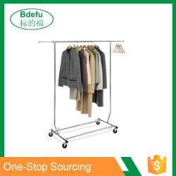 Adjustable Height Shop display Rack Moveable Clothes Rail