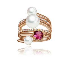 Wholesale Fashion 925 Silver Pearl Ring Brass Jewelry