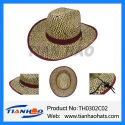 6a6073619f8 Paper Straw Sombrero Cowboy Man Sun Hat