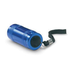 6 LED Lights Aluminium Mini Torch with Hand Strap with Customized Logo