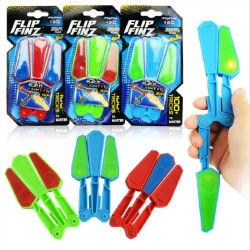 2018 New Hot Kids Flip Finz Stress Reliever Toy Flash Light Fidget Spinner Flip Finz Toy for Children's Party Gift