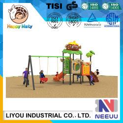 Kindergarten Playground Amusement Equipment Amusement Park Swing Set with Slide for Chlidren/Kids