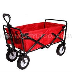 Foldable Hand Cart Trolley Coaster Wagon Garden Wheelbarrow Beach Folding Trolley Cart
