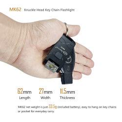 Mini Key Chain USB Rechargeable CREE LED Flashlight High Lumen Knuckle Head Long Runtime High Waterproof for Emergency Everyday Carry Camping LED Light Torch