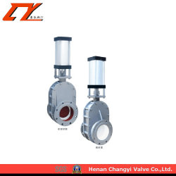 Z644tc-10c Pneumatic Ceramic Double Disc Gate Valve for Industrial