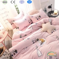 Girl Trendy Design Super Warm Coral Fleece Bedsheet Set