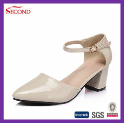 Sharp Pointed Toe PU Lady Heel Shoes