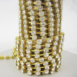 Wholesale Rhinestone Cup Chain, Rhinestone Chain Gold, Shoe Accessories