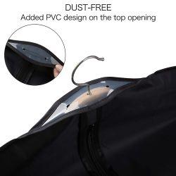 Factory Sales Customized Black Suit Garment Bag with Custom Logo