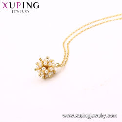 Hollow out Circle Imitation Pearl Bead Fashion Necklace Jewelry with Pendant