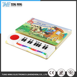 Customized ABS Hard Cover Music Children Sound Book