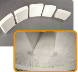 Zibo Wear-Resistant Alumina Ceramic Bends Used for Electric Power, Metallurgy, Mining, Coal, Chemical Industry