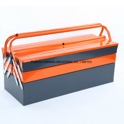 Portable Metal Tool Box With 3 Storage Layers And Double Colors (WW TB302E)