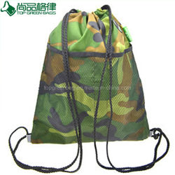 Custom 600d School Bag Sport Camouflage Drawstring Backpack Bag