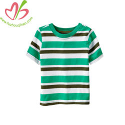 latest Designs Cotton Stripes Custom Sport Boy Clothing