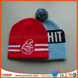 Popular Knitted Acrylic Jacquard Football Cap