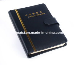 Recycled Customized PU Case Loose Leaf Diary Book for Gift