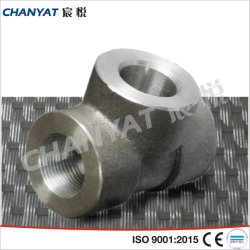 Stainless Steel Forged Threaded Fitting Equal Tee DIN (1.4401, X5CrNiMo17122)