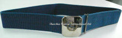 Navy Blue Belt with Alloy Silver Buckle for Police