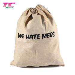 Eco-Friendly Fabric Shoe Bag Travel Dust Cotton Drawstring Shoe Bag