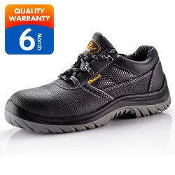 Quality Waterproof Leather Sports Men Work Shoes Fashion Steel Toe Caps Safety Shoes