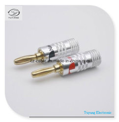 Banana Plug/Jack for AV/RCA/TV/Audio Cable (silver)