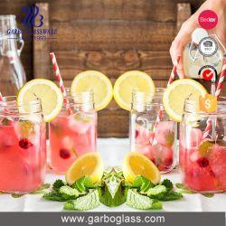 450ml Mutil-Color Glass Mason Jar with Straw