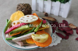 Healthy Crispy Vegetable Snacks Supplier Low Calories Sliced Shape Mixed Vegetable Chips