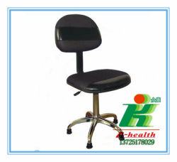 Anti Static Lab PU Leather Cleanroom ESD Work Chair For Clean Room