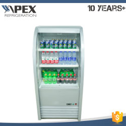 America Style Slim Line Open Air Chiller with ETL/Approved, Go&Grab